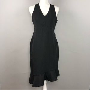Express asymmetrical ruffle mini dress NWT